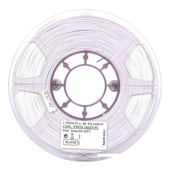 Катушка PLA-пластика ESUN 1.75 мм 1кг., белая (PLA175CW1)