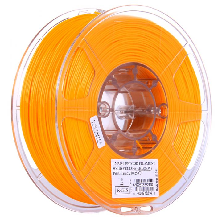 Катушка PETG-пластика ESUN 1.75 мм 1кг., ярко-желтая (PETG175SY1)