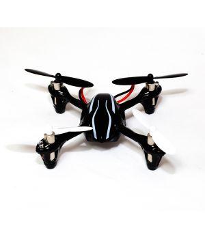 Квадрокоптер Hubsan X 4 Mini Quadcopter (H107+) черный с серебряной полосой