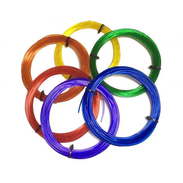 Комплект SBS-пластика Tiger3D 1.75 мм для 3D ручек, полупрозрачный, 6 цветов по 10 метров каждого цвета