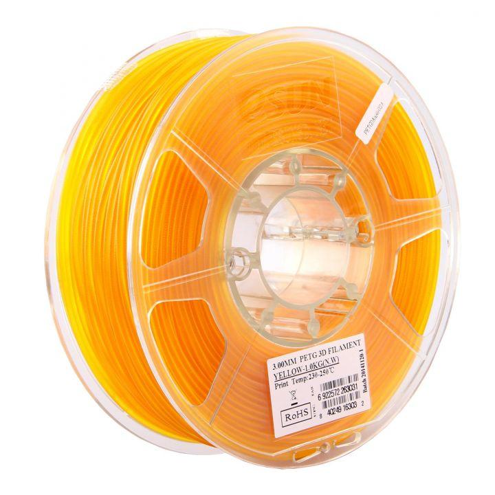 Катушка PLA-пластика ESUN 1.75 мм 1кг., желтая (PLA175Y1)