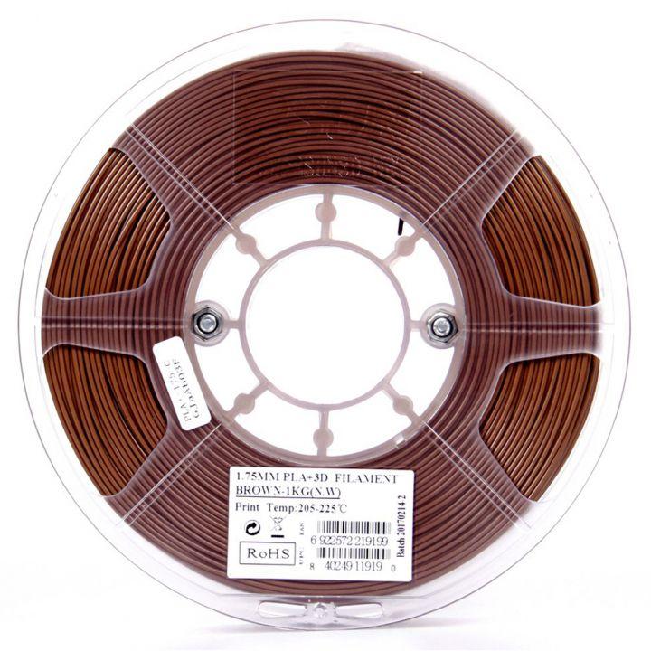 Катушка пластика PLA+ ESUN 1.75 мм 1кг., коричневая (PLA+175C1)