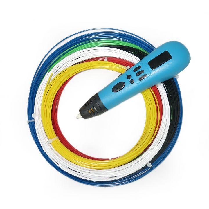 3D ручка Tiger 3D Multi One, Голубая, Для мальчиков