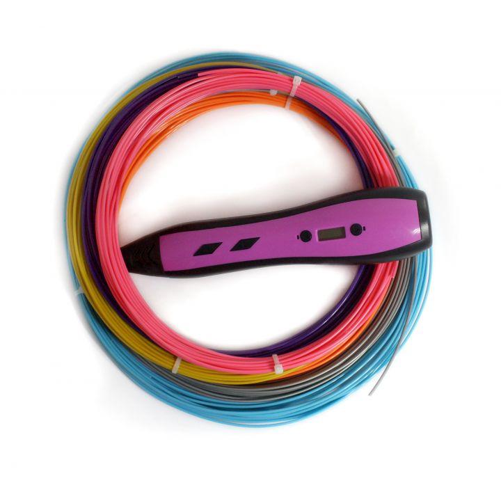 3D ручка RP700A, розовая, для девочек