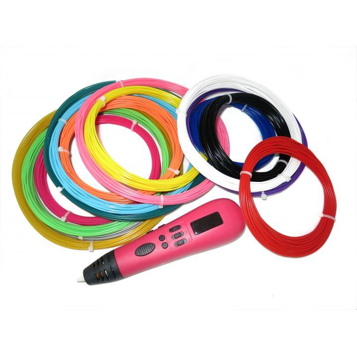 3D ручка Tiger 3D Multi One, Розовая, Мега комплект