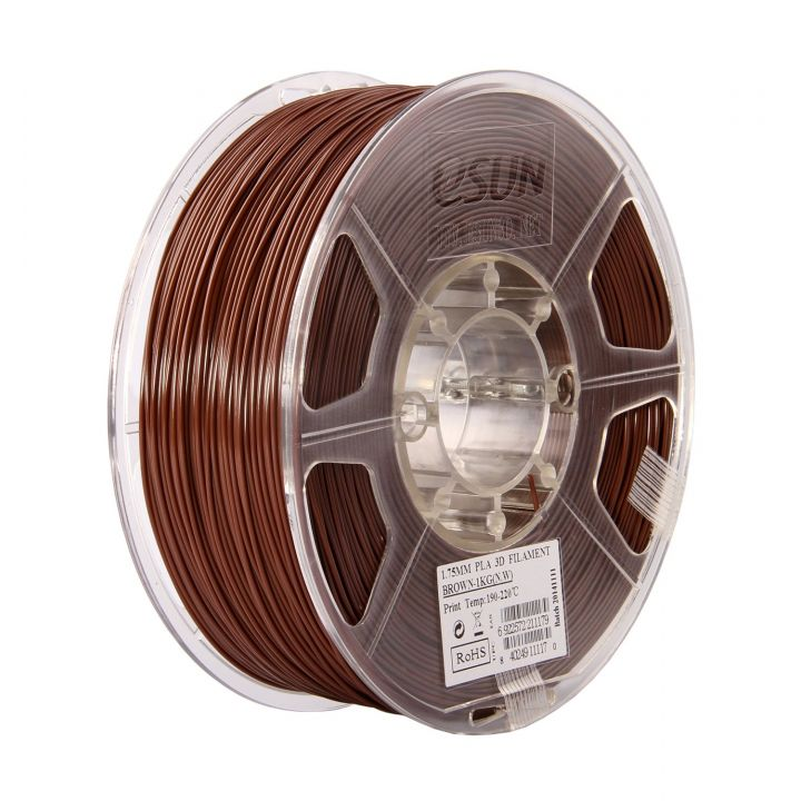 Катушка PLA-пластика ESUN 1.75 мм 1кг., коричневая (PLA175C1)
