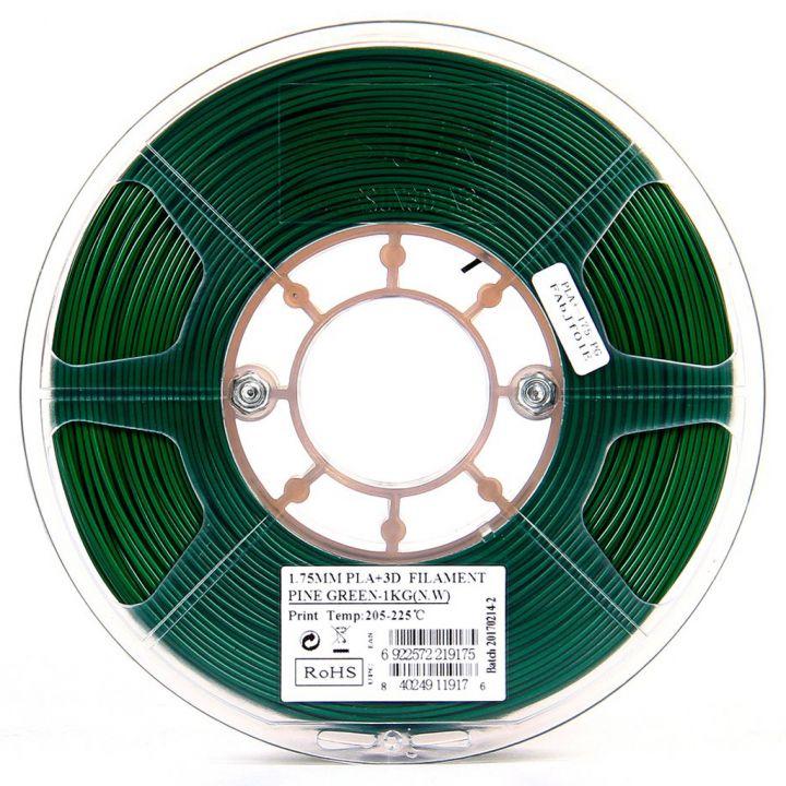 Катушка пластика PLA+ ESUN 1.75 мм 1кг., темно-зеленая (PLA+175PG1)