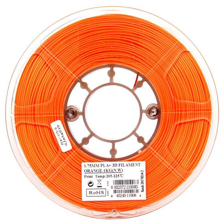Катушка пластика PLA+ ESUN 1.75 мм 1кг., оранжевая (PLA+175O1)