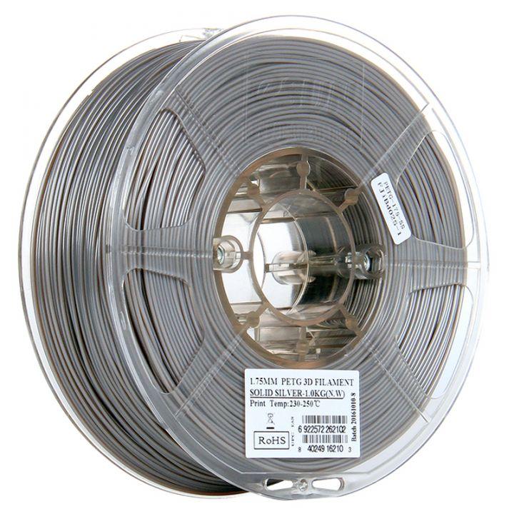Катушка PETG-пластика ESUN 1.75 мм 1кг., серебристая (PETG175SS1)