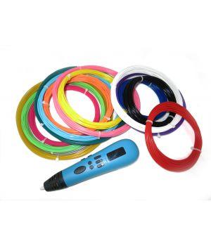 3D ручка Tiger 3D Multi One, Голубая, Мега комплект