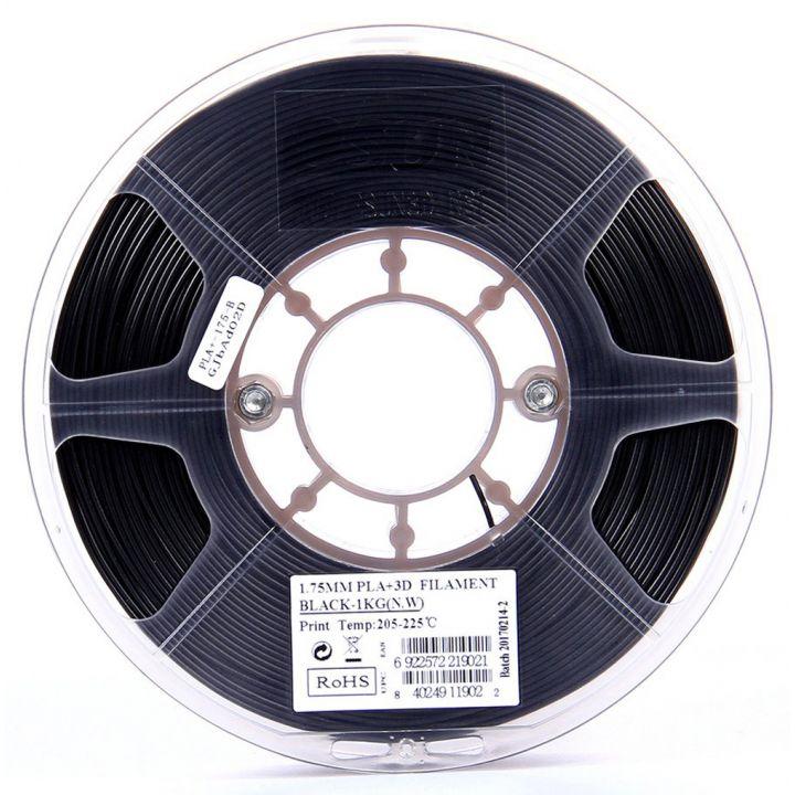 Катушка пластика PLA+ ESUN 1.75 мм 1кг., черная (PLA+175B1)