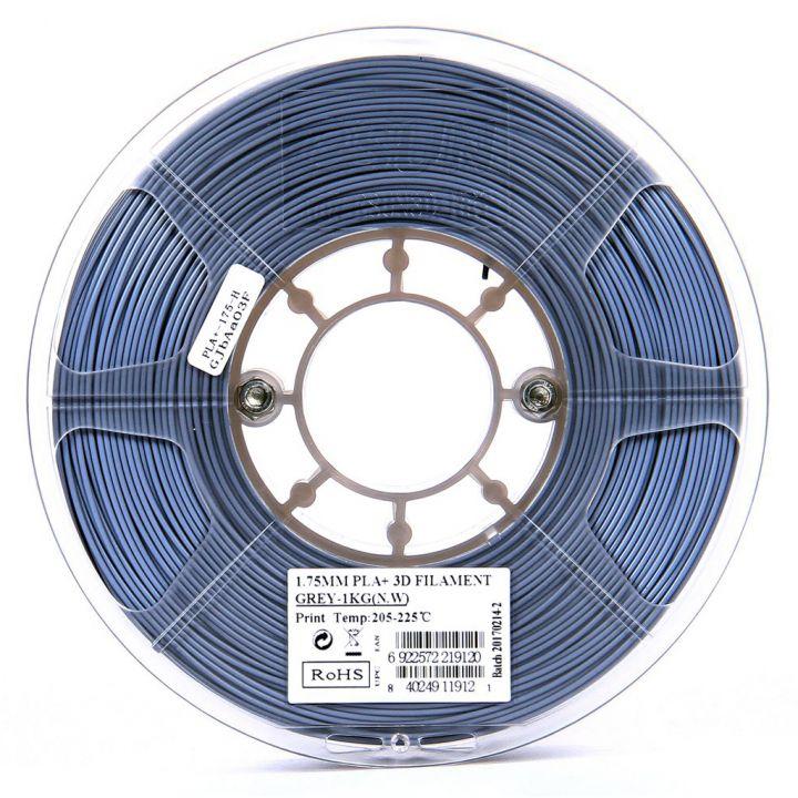 Катушка пластика PLA+ ESUN 1.75 мм 1кг., серая (PLA+175H1)