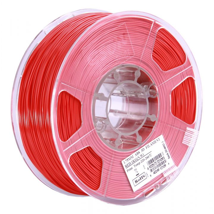 Катушка ABS-пластика ESUN 1.75 мм 1кг., красная (ABS175R1)