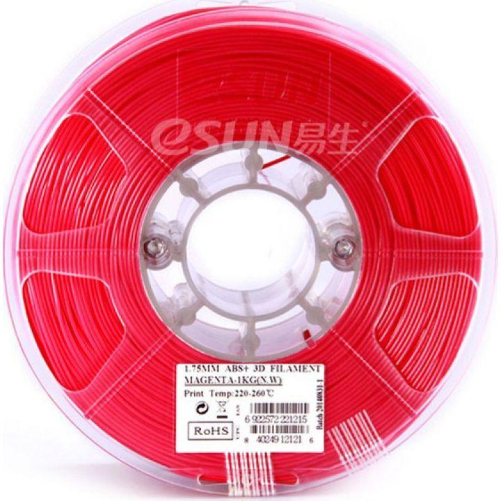 Филамент eSun ABS+ (пластиковая нить АБС+) для 3D принтеров, 1.75 мм, мажента, 1 кг, ABS+175M1