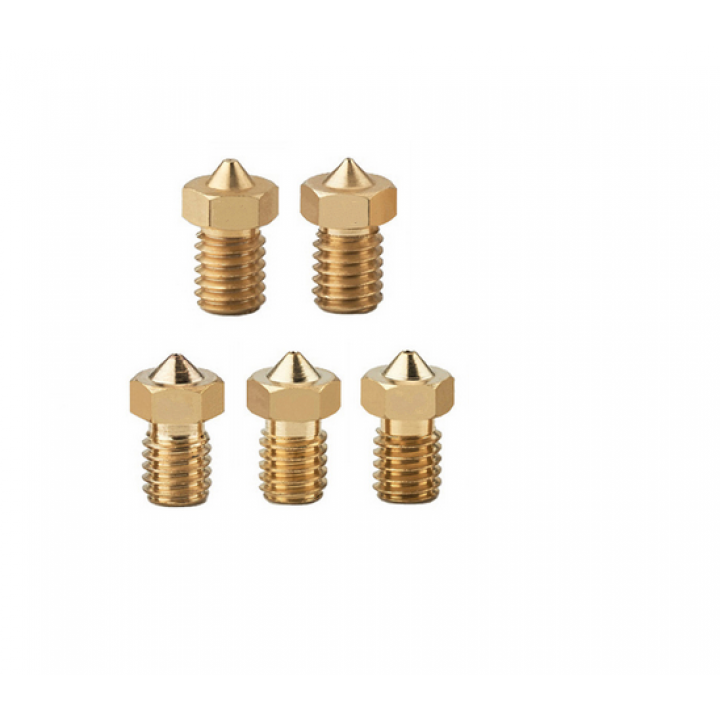 Cопла для 3D принтера Anycubic - 5 штук (0.2 - 1 шт, 0.3 - 1 шт, 0.4 - 1 шт, 0.5 - 1 шт, 0.6 - 1 шт)