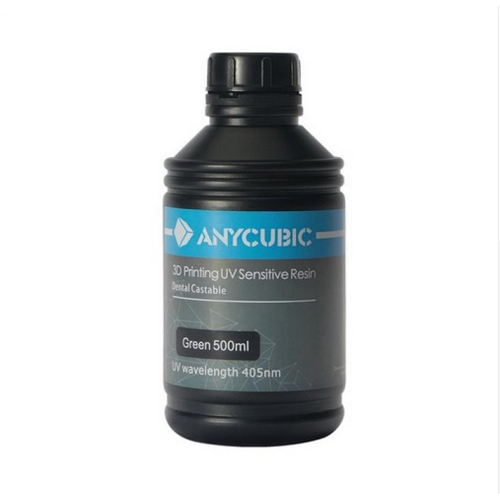Выжигаемый фотополимер Anycubic Castable (500 ml, зеленый)