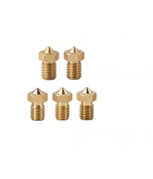 Сопла для 3D принтера универсальные V6 и V5 (0.4 - 1 шт, 0.5 - 2 шт, 0.8 - 1 шт, 1.0 - 1 шт)